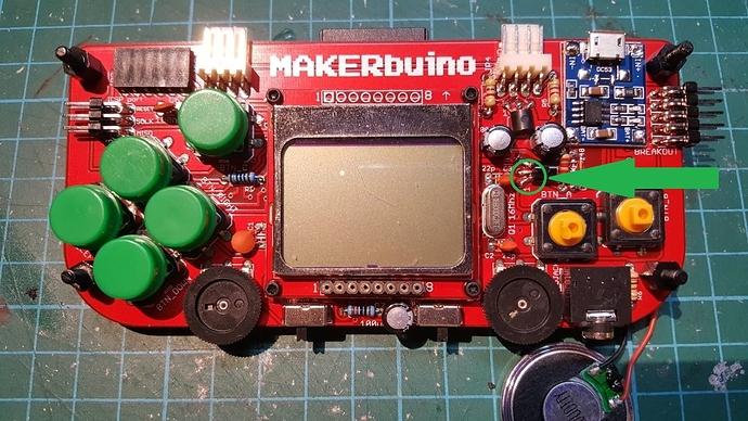 MAKERbuino no sound solder